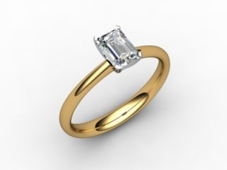 Certificated Emerald-Cut Diamond Solitaire Engagement Ring in 18ct. Gold-04-2800-0001