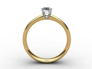 Certificated Emerald-Cut Diamond Solitaire Engagement Ring in 18ct. Gold - 3