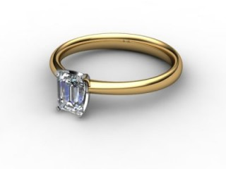 Certificated Emerald-Cut Diamond Solitaire Engagement Ring in 18ct. Gold - 12
