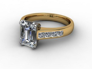 Certificated Emerald-Cut Diamond in 18ct. Gold-04-2800-2950