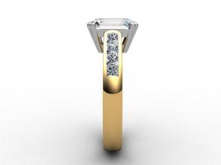 Certificated Emerald-Cut Diamond in 18ct. Gold - 6