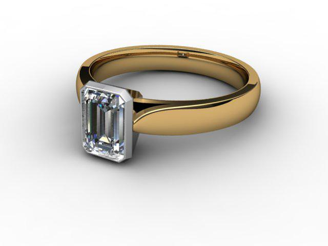 Certificated Emerald-Cut Diamond Solitaire Engagement Ring in 18ct. Gold