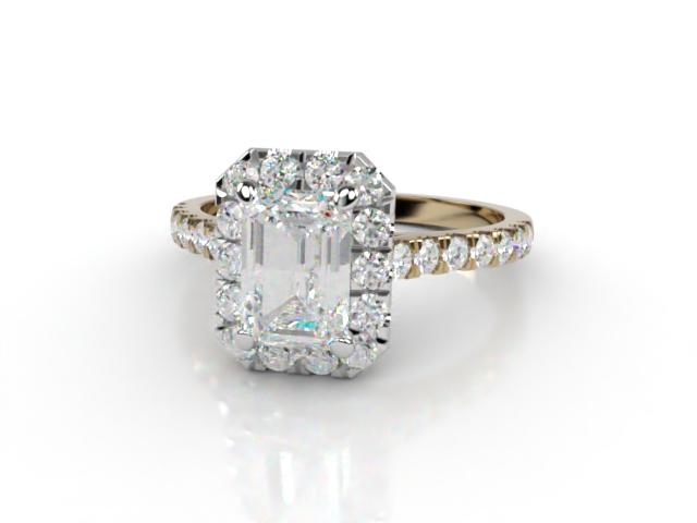 Certificated Emerald-Cut Diamond in 18ct. Gold