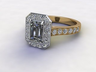Certificated Emerald-Cut Diamond in 18ct. Gold-04-2800-8924