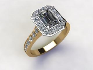 Certificated Emerald-Cut Diamond in 18ct. Gold - 12