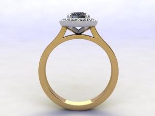 Certificated Emerald-Cut Diamond in 18ct. Gold - 3