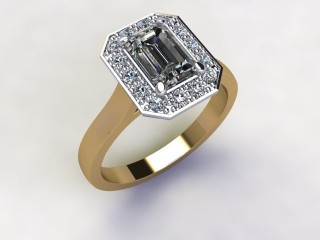Certificated Emerald-Cut Diamond in 18ct. Gold - 15