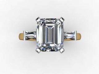 Certificated Emerald-Cut Diamond in 18ct. Gold - 9