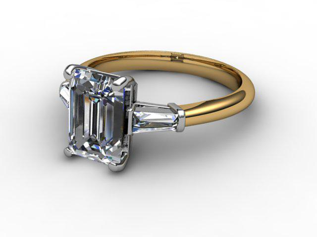 Certificated Emerald-Cut Diamond in 18ct. Gold