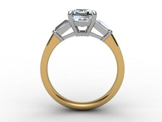 Certificated Emerald-Cut Diamond in 18ct. Gold - 3