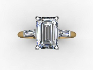 Certificated Emerald-Cut Diamond in 18ct. Gold - 9