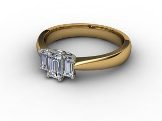 Trilogy 18ct. Yellow Gold Emerald-Cut Diamond-04-2833-2306