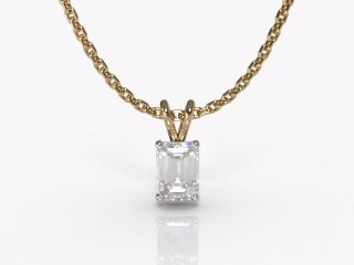 Certified Emerald-Cut Diamond Pendant-04-28911