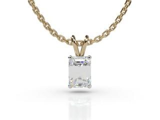 Certified Emerald-Cut Diamond Pendant-04-28911