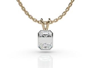 Certified Emerald-Cut Diamond Pendant-04-28912