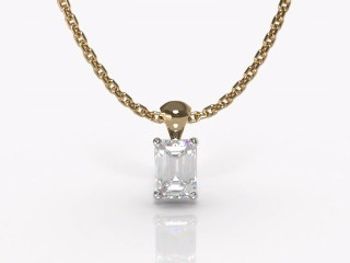 Certified Emerald-Cut Diamond Pendant-04-28913