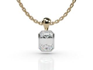 Certified Emerald-Cut Diamond Pendant-04-28914