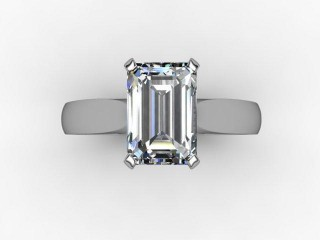 Certificated Emerald-Cut Diamond Solitaire Engagement Ring in Palladium - 9