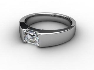 Certificated Emerald-Cut Diamond Solitaire Engagement Ring in Palladium-04-6600-2920
