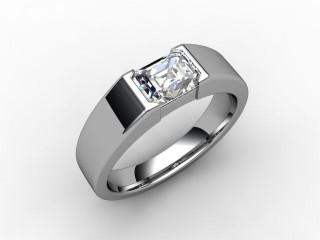 Certificated Emerald-Cut Diamond Solitaire Engagement Ring in Palladium - 12