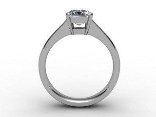 Certificated Emerald-Cut Diamond Solitaire Engagement Ring in Palladium - 3