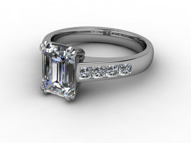 Certificated Emerald-Cut Diamond in Palladium