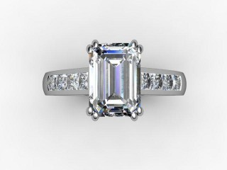 Certificated Emerald-Cut Diamond in Palladium - 9