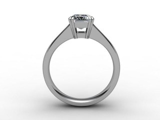 Certificated Emerald-Cut Diamond Solitaire Engagement Ring in Palladium - 3