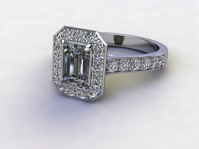 Certificated Emerald-Cut Diamond in Palladium
