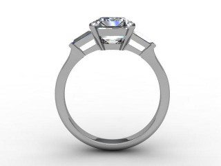 Certificated Emerald-Cut Diamond in Palladium - 3