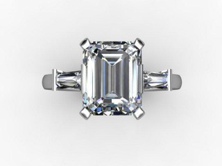 Certificated Emerald-Cut Diamond in Palladium - 9
