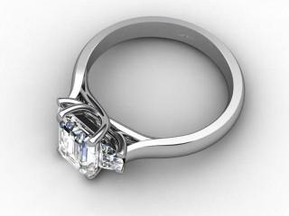 Certificated Emerald-Cut Diamond in Palladium-04-6602-6233
