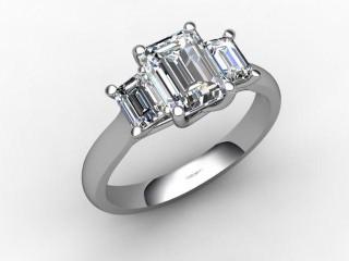 Certificated Emerald-Cut Diamond in Palladium-04-6602-6234