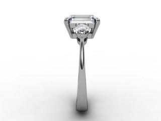 Trilogy Palladium Emerald-Cut & Pearshape Diamond - 9