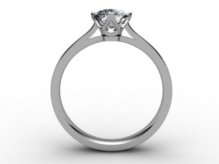 Certificated Cushion-Cut Diamond Solitaire Engagement Ring in Platinum - 6