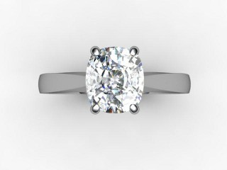 Certificated Cushion-Cut Diamond Solitaire Engagement Ring in Platinum - 12