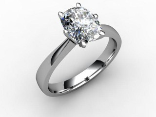 Certificated Cushion-Cut Diamond Solitaire Engagement Ring in Platinum-05-0100-0007