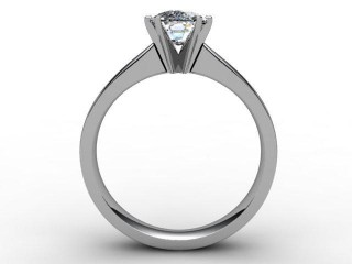 Certificated Cushion-Cut Diamond Solitaire Engagement Ring in Platinum - 3