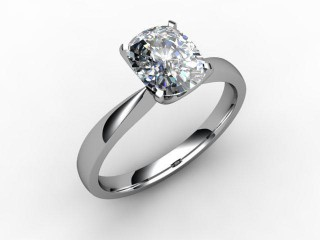Certificated Cushion-Cut Diamond Solitaire Engagement Ring in Platinum-05-0100-0008
