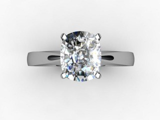 Certificated Cushion-Cut Diamond Solitaire Engagement Ring in Platinum - 9