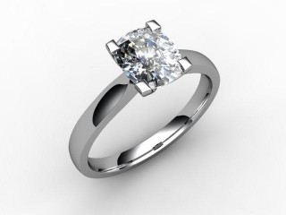Certificated Cushion-Cut Diamond Solitaire Engagement Ring in Platinum-05-0100-0010