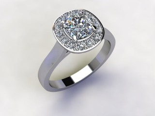 Certificated Cushion-Cut Diamond in Platinum - 12