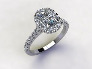 Certificated Cushion-Cut Diamond in Platinum - 15