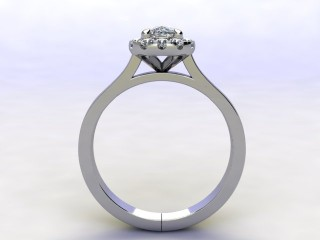 Certificated Cushion-Cut Diamond in Platinum - 3