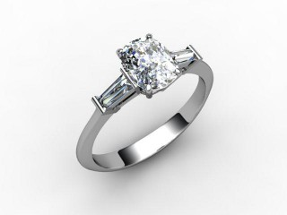 Certificated Cushion-Cut Diamond in Platinum-05-0102-0009