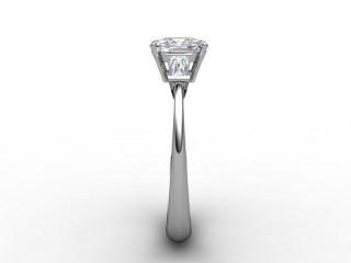 Certificated Cushion-Cut Diamond in Platinum - 6