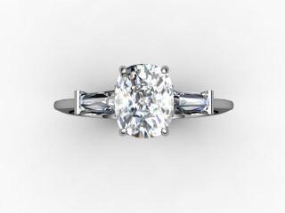 Certificated Cushion-Cut Diamond in Platinum - 9