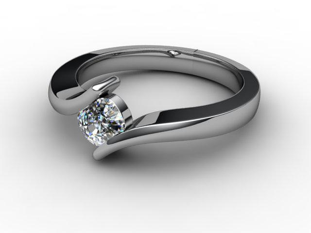 Certificated Cushion-Cut Diamond Solitaire Engagement Ring in Platinum