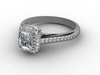 Certificated Cushion-Cut Diamond in Platinum-05-0156-8020