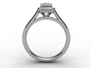 Certificated Cushion-Cut Diamond in Platinum - 3